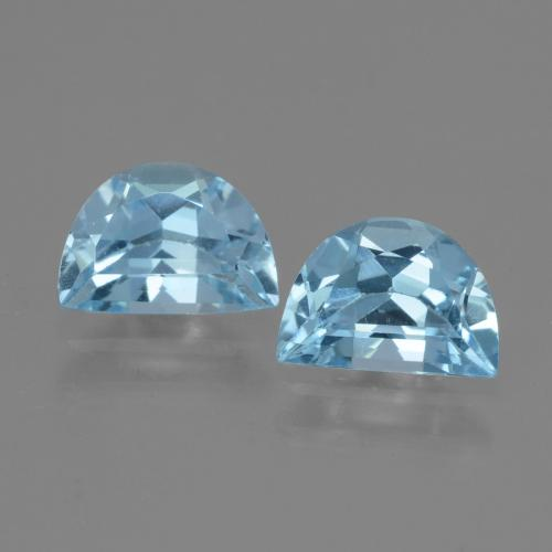 Swiss Blue Topaz Gem - 1ct Fancy Facet (ID: 432946)