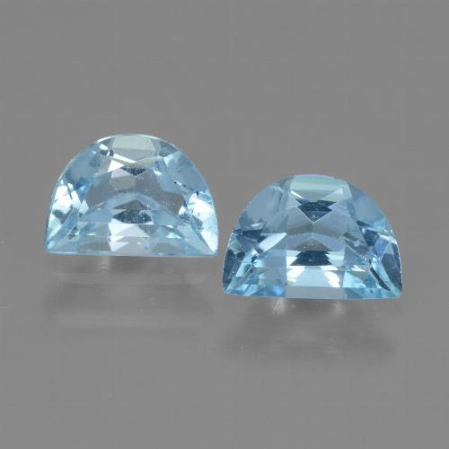 Swiss Blue Topaz Gem - 1ct Fancy Facet (ID: 432947)