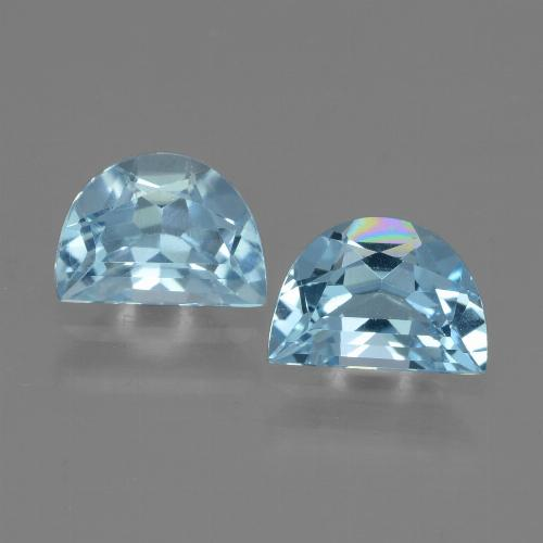Swiss Blue Topaz Gem - 1ct Fancy Facet (ID: 432950)
