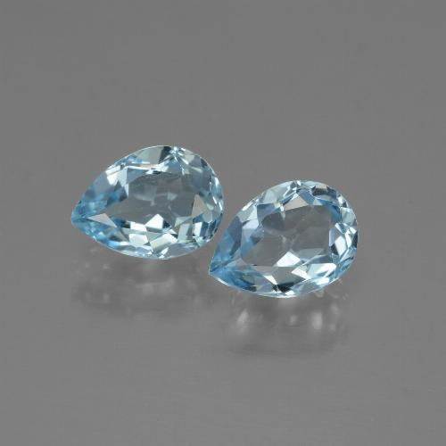Baby Blue Topaz Gem - 0.9ct Pear Facet (ID: 432975)