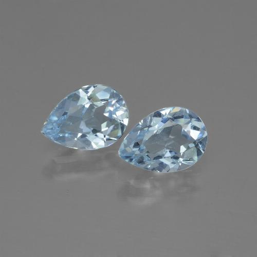 Swiss Blue Topaz Gem - 0.8ct Pear Facet (ID: 432984)