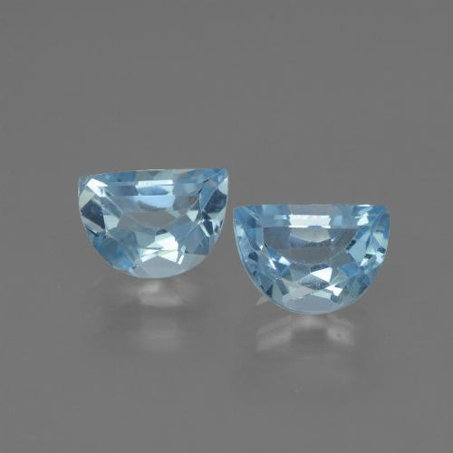 Swiss Blue Topaz Gem - 1ct Fancy Facet (ID: 433000)
