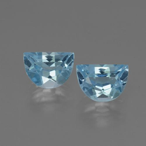 Swiss Blue Topaz Gem - 1ct Fancy Facet (ID: 433001)