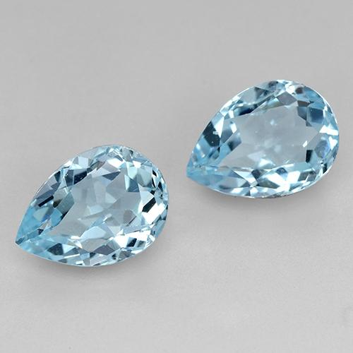 Swiss Blue Topaz Gem - 0.9ct Pear Facet (ID: 433048)