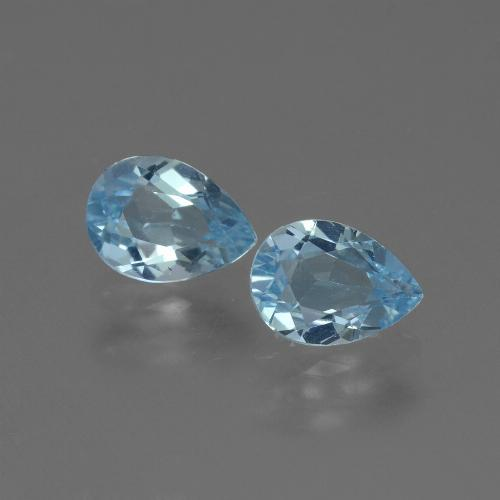 Swiss Blue Topaz Gem - 0.9ct Pear Facet (ID: 433052)