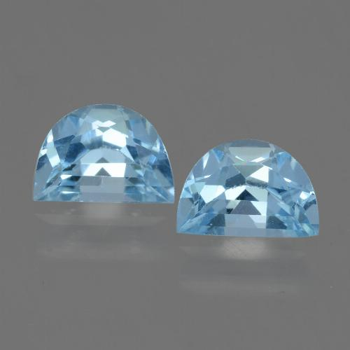 Swiss Blue Topaz Gem - 1ct Fancy Facet (ID: 433091)