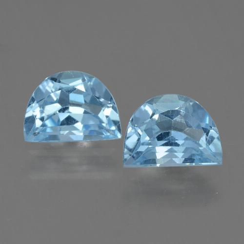 Swiss Blue Topaz Gem - 1.1ct Fancy Facet (ID: 433092)