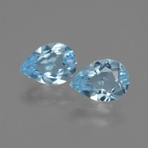 Swiss Blue Topaz Gem - 0.8ct Pear Facet (ID: 433096)