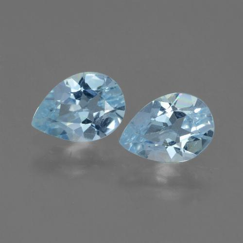 Swiss Blue Topaz Gem - 0.8ct Pear Facet (ID: 433102)