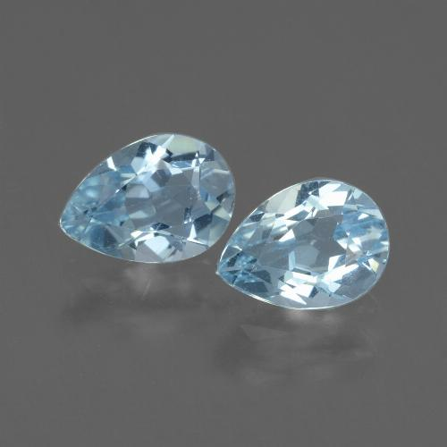 Baby Blue Topaz Gem - 0.9ct Pear Facet (ID: 433103)