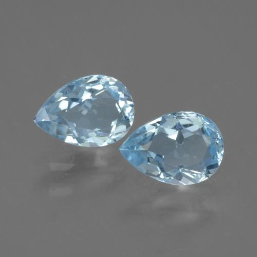 Swiss Blue Topaz Gem - 0.8ct Pear Facet (ID: 433106)