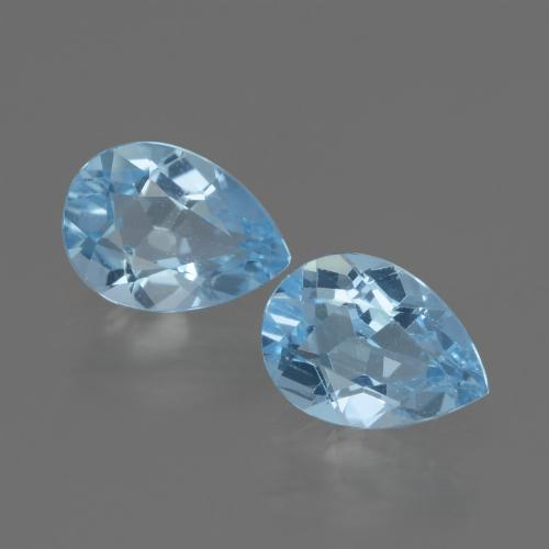 Swiss Blue Topaz Gem - 0.9ct Pear Facet (ID: 433132)