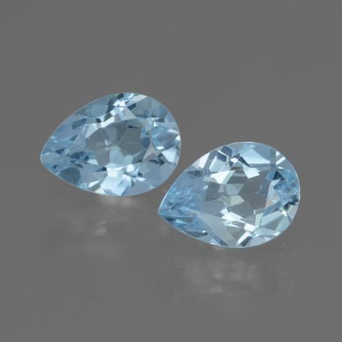 Sky Blue Topaz Gem - 0.8ct Pear Facet (ID: 433133)