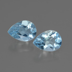 Swiss Blue Topaz Gem - 0.8ct Pear Facet (ID: 433136)