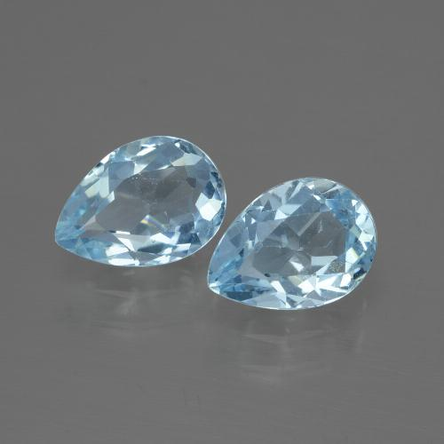 Baby Blue Topaz Gem - 0.9ct Pear Facet (ID: 433137)