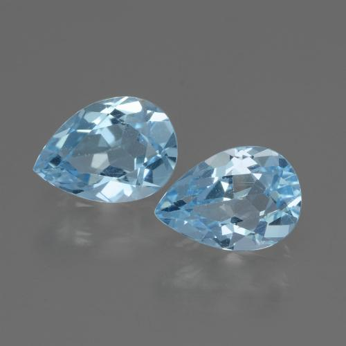 Swiss Blue Topaz Gem - 0.9ct Pear Facet (ID: 433141)