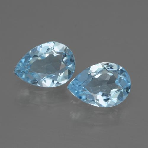 Baby Blue Topaz Gem - 0.8ct Pear Facet (ID: 433142)