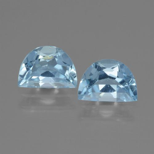 Deep Maya Blue Topaz Gem - 0.9ct Fancy Facet (ID: 433156)
