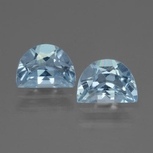 Swiss Blue Topaz Gem - 1ct Fancy Facet (ID: 433160)