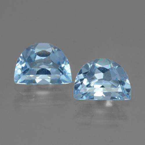 Swiss Blue Topaz Gem - 1ct Fancy Facet (ID: 433163)