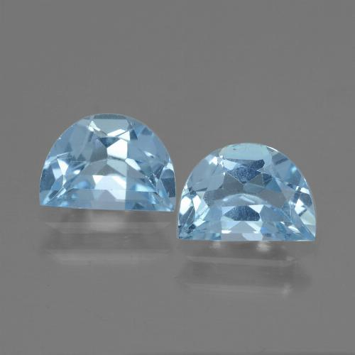 Swiss Blue Topaz Gem - 1ct Fancy Facet (ID: 433165)