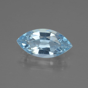 Swiss Blue Topaz Gem - 2.1ct Marquise Facet (ID: 433175)