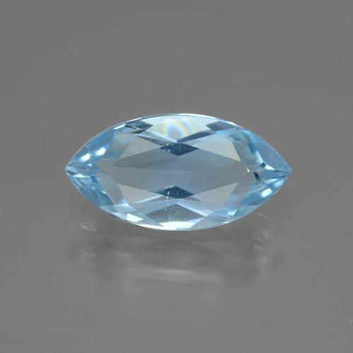 Swiss Blue Topaz Gem - 2.2ct Marquise Facet (ID: 433176)
