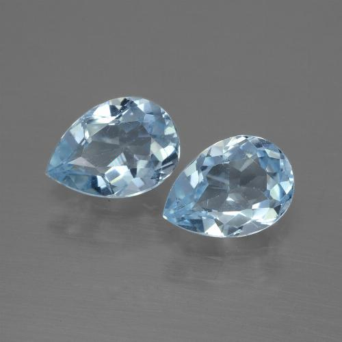Baby Blue Topaz Gem - 0.9ct Pear Facet (ID: 433191)