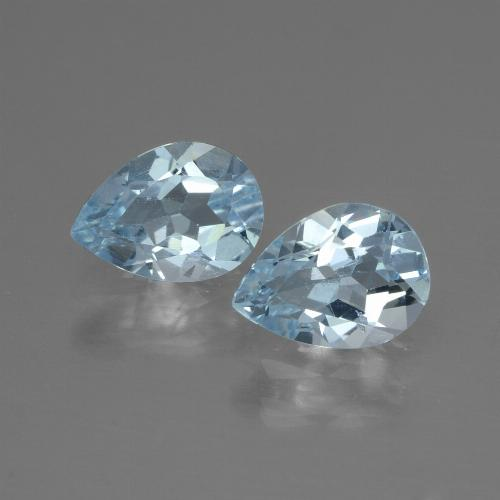 Swiss Blue Topaz Gem - 0.8ct Pear Facet (ID: 433195)