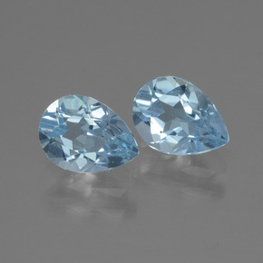 Baby Blue Topaz Gem - 0.9ct Pear Facet (ID: 433202)