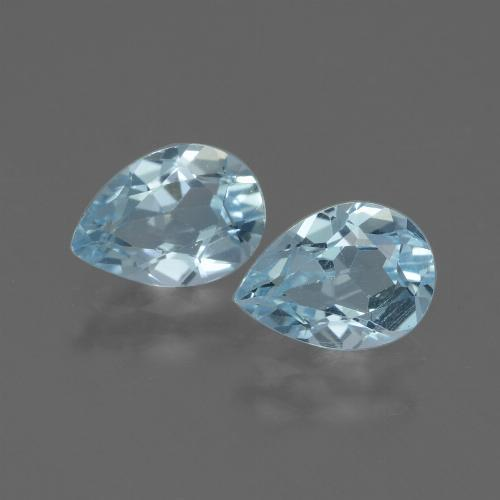 Baby Blue Topaz Gem - 0.8ct Pear Facet (ID: 433217)
