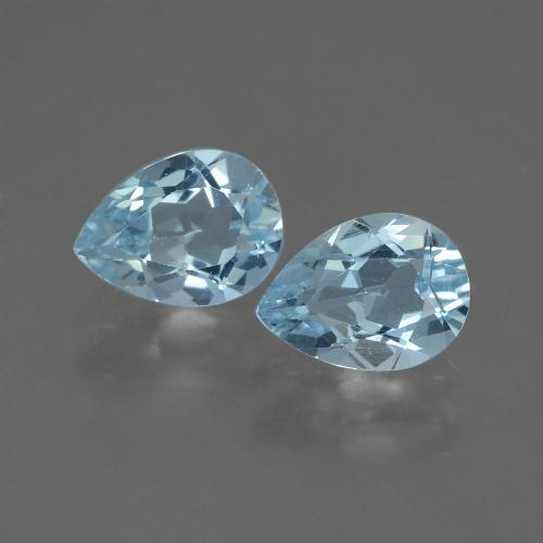 Swiss Blue Topaz Gem - 0.9ct Pear Facet (ID: 433219)