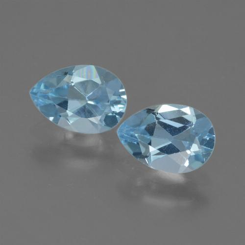 Deep Maya Blue Topaz Gem - 0.8ct Pear Facet (ID: 433221)