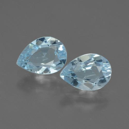 Baby Blue Topaz Gem - 0.9ct Pear Facet (ID: 433222)