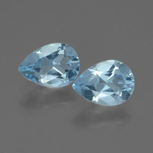 Baby Blue Topaz Gem - 0.8ct Pear Facet (ID: 433223)