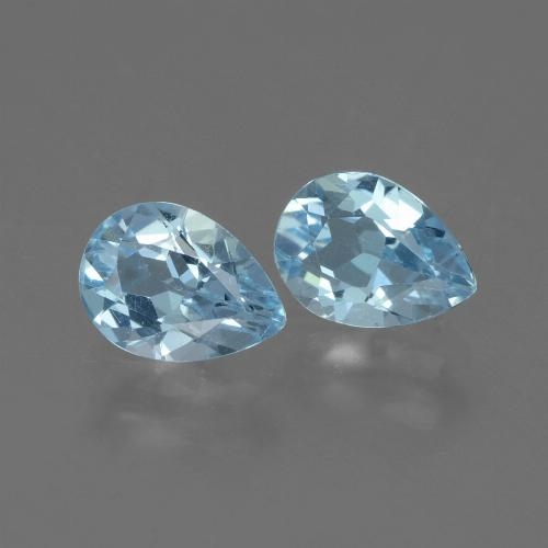 Swiss Blue Topaz Gem - 0.8ct Pear Facet (ID: 433225)