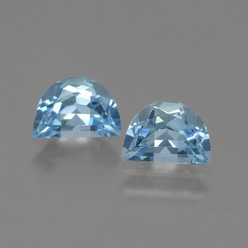 Swiss Blue Topaz Gem - 1ct Fancy Facet (ID: 433243)