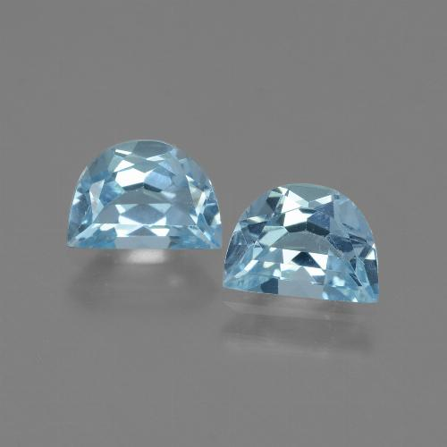 Swiss Blue Topaz Gem - 1ct Fancy Facet (ID: 433246)