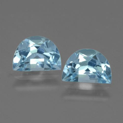 Deep Maya Blue Topaz Gem - 1ct Fancy Facet (ID: 433247)