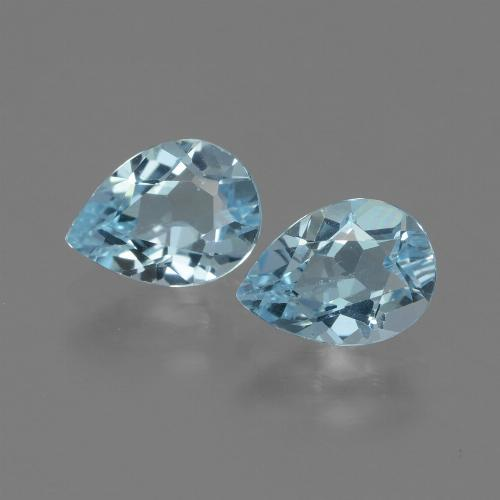 Swiss Blue Topaz Gem - 0.9ct Pear Facet (ID: 433251)