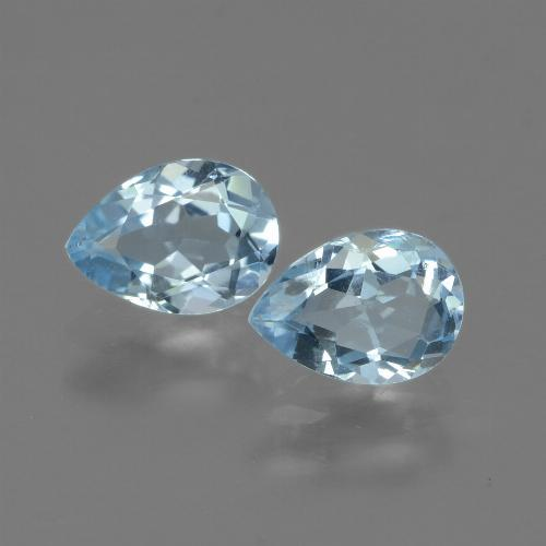 Swiss Blue Topaz Gem - 0.8ct Pear Facet (ID: 433252)