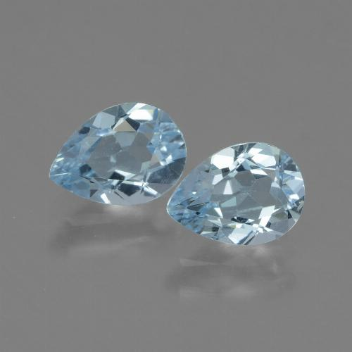 Swiss Blue Topaz Gem - 0.9ct Pear Facet (ID: 433257)