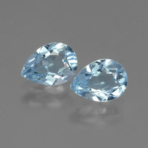 Swiss Blue Topaz Gem - 0.8ct Pear Facet (ID: 433260)