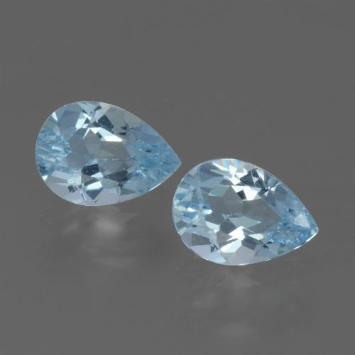 Sky Blue Topaz Gem - 0.8ct Pear Facet (ID: 433284)