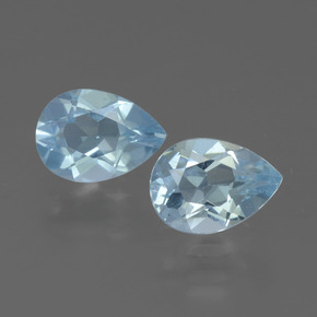 Baby Blue Topaz Gem - 0.9ct Pear Facet (ID: 433285)
