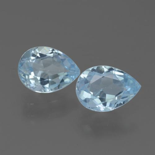 Swiss Blue Topaz Gem - 0.8ct Pear Facet (ID: 433286)
