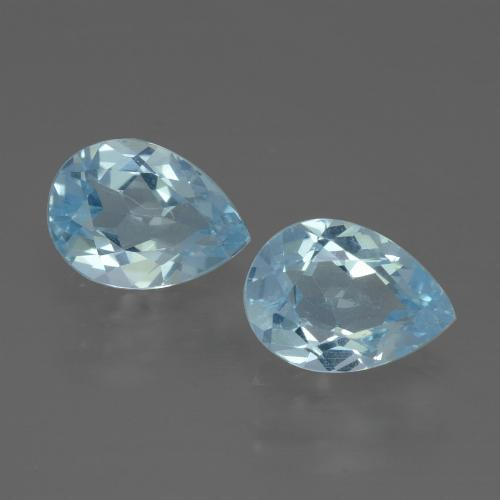 Swiss Blue Topaz Gem - 0.9ct Pear Facet (ID: 433296)