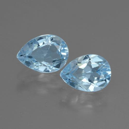 Swiss Blue Topaz Gem - 0.9ct Pear Facet (ID: 433310)