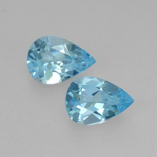 Swiss Blue Topaz Gem - 0.8ct Pear Facet (ID: 433311)