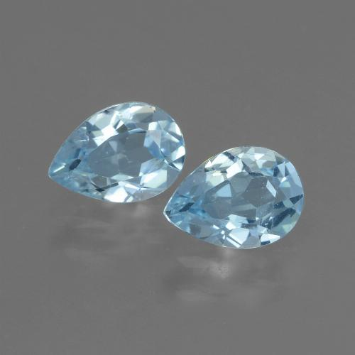 Swiss Blue Topaz Gem - 0.9ct Pear Facet (ID: 433315)